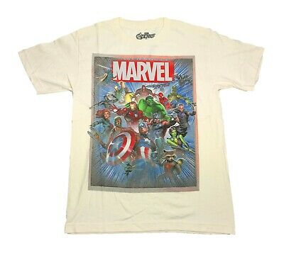 Marvel Comics Avengers Defenders Guardians Of The Galaxy Group Shot Mens T Shirt