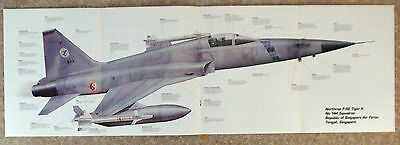 Airplane-Pt 94-W/giant Fold Out Poster-Northrop F-5