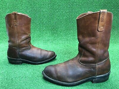 0e394672369 VTG RED WING Pecos Nailseat Pull-On Cowboy Engineer Boots Men's Sz 12 USA  Made