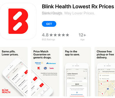 Blink Health app $15 off coupon discount pharmacy Rx drugs Walgreens CVS Costco