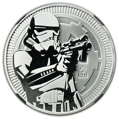 Niue 2018 $2 Star Wars NGC MS-69 Early Releases 1oz Silver Stormtrooper [4160.23