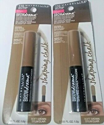435f92fd0fc 3 Maybelline Brow Drama Shaping Chalk Powder Soft Touch App. Soft Brown 110