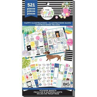 The Happy Planner Sticker Value Pack Happy Illustrations 521 Stickers in Pack