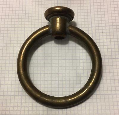 """Solid Brass Loop Hook Circle Lamp Finial 2 9/16"""" H with wire way SHIPPING INCL"""