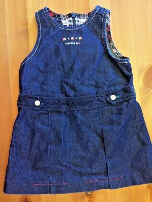 34af01a3 Tommy Hilfiger Baby Girls 6 9 12 Months Denim Jumper Dress Vtg Vintage Flag  B100