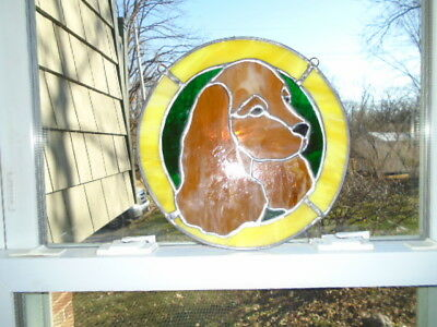 STAINED GLASS DOG - Springer Spaniel / Golden Retriever