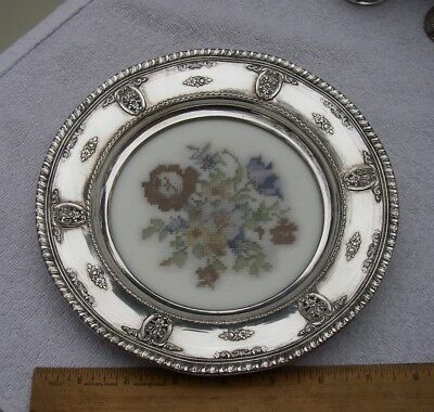 Good Wallace ROSE POINT (1932) Inset Base SERVING TRAY-#6510-Embroidery Pattern