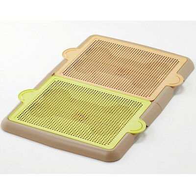 Indoor Puppy Dog Pet Connectable Mesh Training Pads Tray Toilet Bathroom