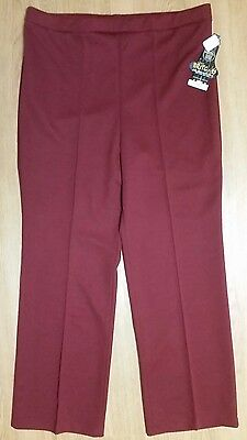 Lucky Britches Womans 34 Red Burgundy Straight Leg Trousers Career Dress Pants