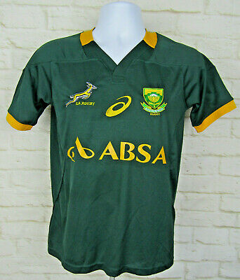 26684cda405 South Africa Springboks Asics Rwc Rugby Fan Jersey Men's Jersey Sz Small