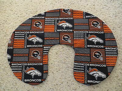 Denver Broncos minky backed EMIJANE Nursing pillow cover - fits Boppy