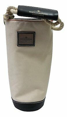 Moet Chandon Luxury Champagne Bottle Nautical Insulated Cooler Carry Tote Bag