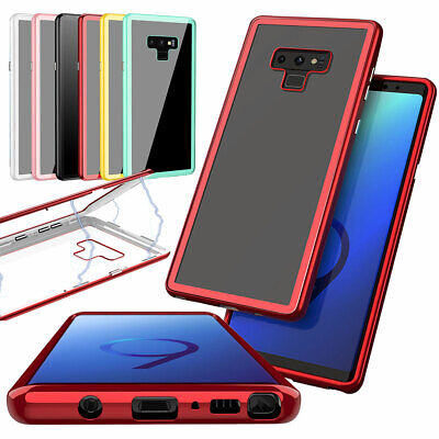 Magnetic Rigid 360 Tempered Glass Cover Case For Samsung Galaxy S8 S9+ Note 9 8