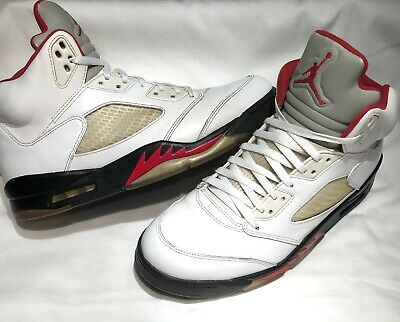 the best attitude 9bb5d 770d2 Nike Air Jordan Retro V 5 Fire Red White Black Size 11 136027-100