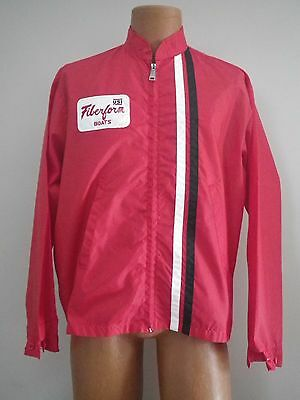 Rare Vintage Retro Red FIBERFORM BOATS USI Jacket by Louisville Mfg (L) AWESOME