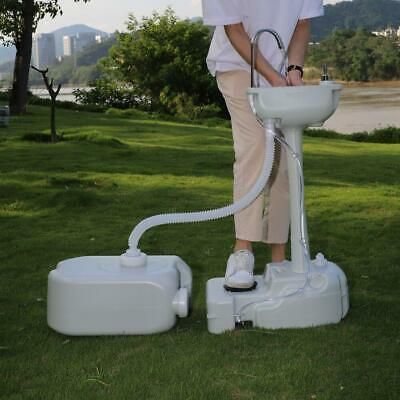 Garden Hand Wash Sink with Soap Dispenser Sink Faucet Towel Holder Recovery Tank