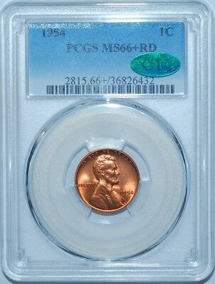 1954 PCGS MS66+RD CAC Lincoln Wheat Cent