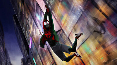 SpiderMan Into The Spider Verse Miles Morales 24 X 14 inch Silk Poster Wallpaper