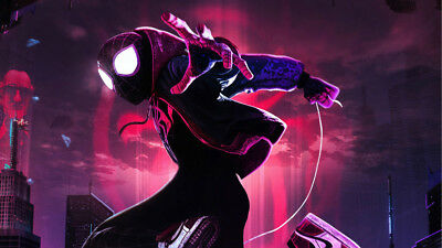Spider Man Into The SpiderVerse Miles Morales 24 X 14 inch Silk Poster Wallpaper