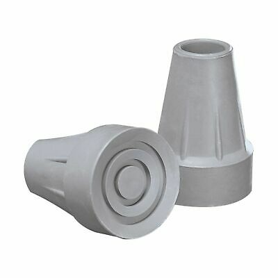 NEW! Rubber Crutch Tip Replacement Large, 1.75'' O.D. Base, Gray -2/Pack
