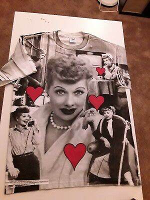 1baf35db DESILU I LOVE LUCY Large Tee Shirt Lucille Ball Tv Show Vintage ...