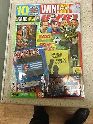New & Sealed Kick! Football magazine 166 With Free Gifts