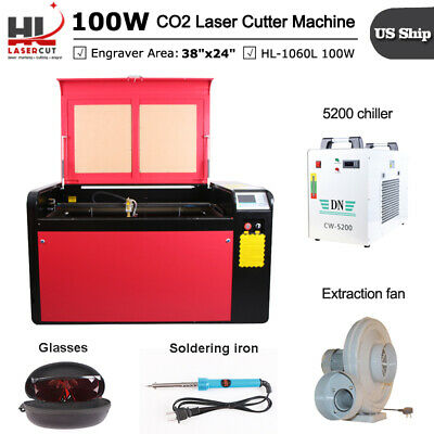 DSP 100W CO2 Laser Cutter Engrave Machine With RuiDa Mainboard and Linear Guide