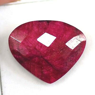 Best Deal 34.90 Ct Natural Certified Real African Red Ruby Loose Gemstone