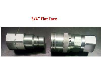 "Flat Face Couplers 3/4"" Bspp Hydraulic Iso16028 Italian Made, Free Post Australi"