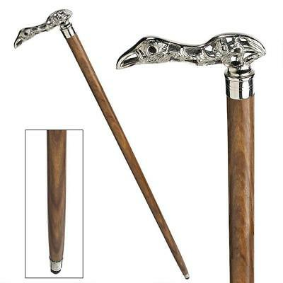 Vintage Style LION Head Solid Brass Handle Wooden Walking Stick Shaft Cane Gift