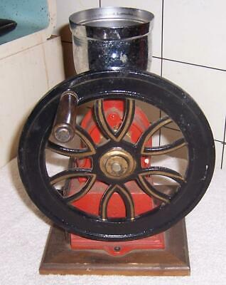 Small Vintage Looking Metal Coffee Grinder / Mill with Wheel