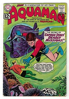 DC Comics AQUAMAN Vol 1 No 2  SILVER AGE captain sykes justice league  4.0 VG
