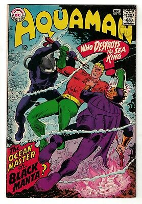 DC Comics AQUAMAN 1 No 35 SILVER AGE 1st Appearance Black Manta 4.5 VG+ 1967 key