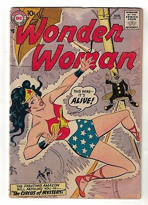 DC COMICS WONDER WOMAN Silver age 92 RARE 1957 VG- 3.0 justice league