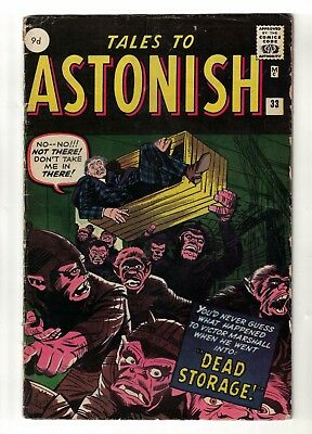 MARVEL COMICS TALES TO ASTONISH 33 VG 4.0 1962 Dead Storage