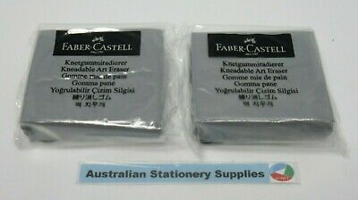2 x Faber-Castell Kneadable Art Erasers in stock ready to post (E)