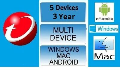Trend Micro Maximum Security 12 (2018)  3 Years Licence  5 Devices