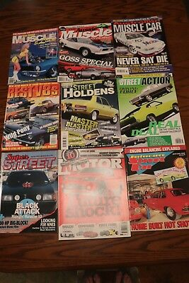 9 x Mixed Car Magazines (Pack A14) GC