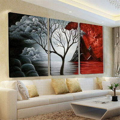 Abstract Canvas Red&Black Print Painting Wall Art Pictures Decor