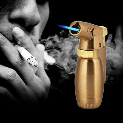 New Jet Flame Cigarette Cigar Butane Gas Lighter Cylinder Flint Wheel Windproof