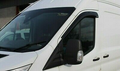 2 X Ford Transit Mk8 Wind Deflector Front Right Left Rain Smoke Deflector 2014