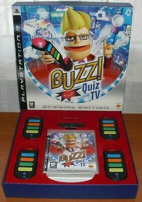 Buzz! Quiz TV (El Multiconcurso) Special Edition + inalámbricos Buzzers, PS3 POR