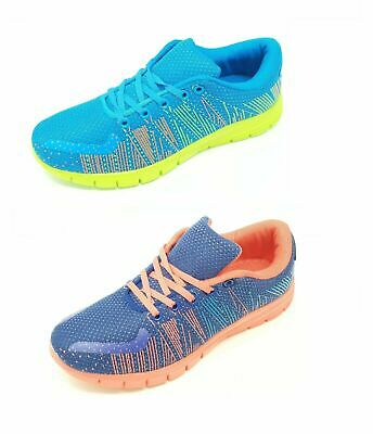 Ladies Womens Teens Girls Mesh Lace up Trainers Gym Shoes Sneakers Size 3-7
