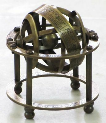 NauticalSolid Brass Table Top Armillary Nautical Collectible Zodiac Sphere Globe