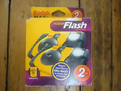 Kodak Power Flash 2 x One Time Use Disposable Camera - 27 Exposure Exp 08/2005