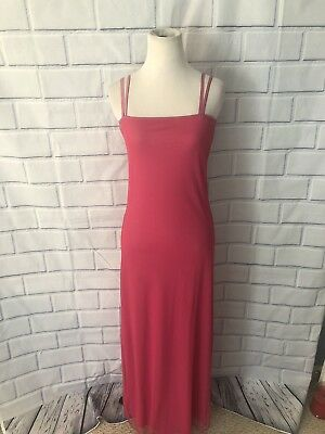 Hot Pink Fuchsia Long Length Gown Dress Sparkly Sleeveless Party Formal Barbie