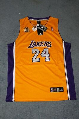 hot sale online 330f7 d09c1 AUTHENTIC ADIDAS LAKERS Kobe Bryant Jersey 60th Anniversary 52 XL All  Stitched