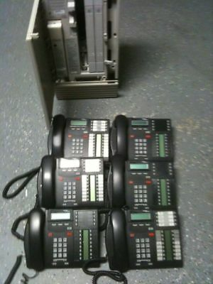 Nortel Norstar MICS Telephone Complete system with 6 Digital phones - Free Ship