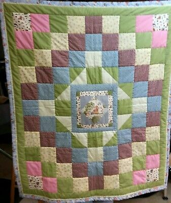 """Winnie the Pooh ""Toddler Quilt +2 pillows; homemade - smoke free environment"