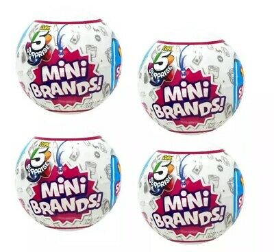 ✨5 SURPRISE MINI BRANDS Lot of 4 ZURU! NEW Sealed Balls In Hand & Ready To Ship✨